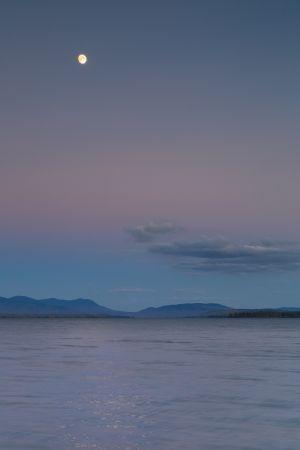 Moonrise over Mount Katahdin